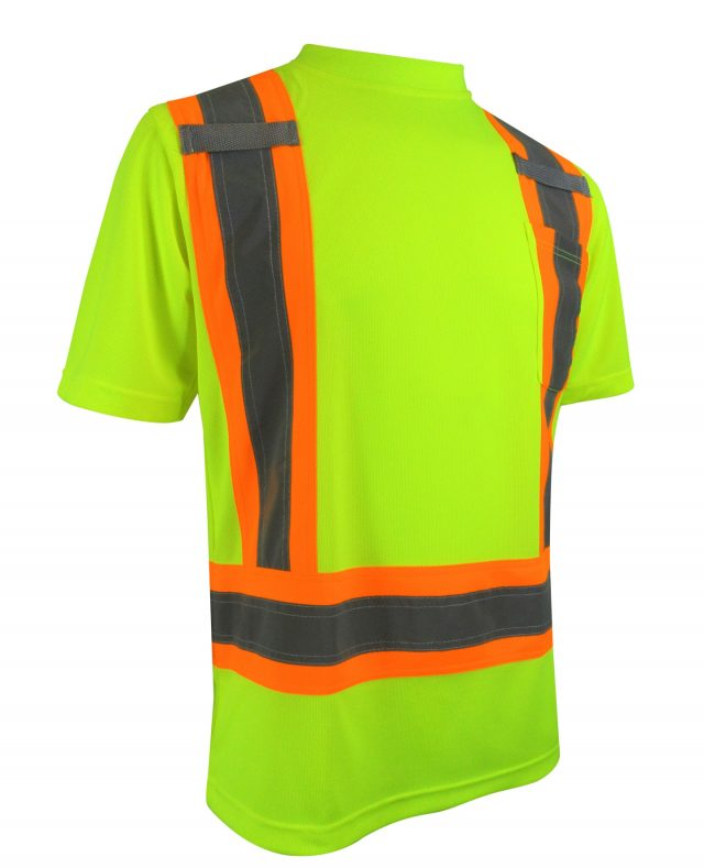 SHORT SLEEVE T-SHIRT WITH REFLECTIVE STRIPES