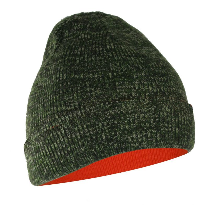 CAMOUFLAGE REVERSIBLE TO FLUORESCENT ORANGE TUQUE