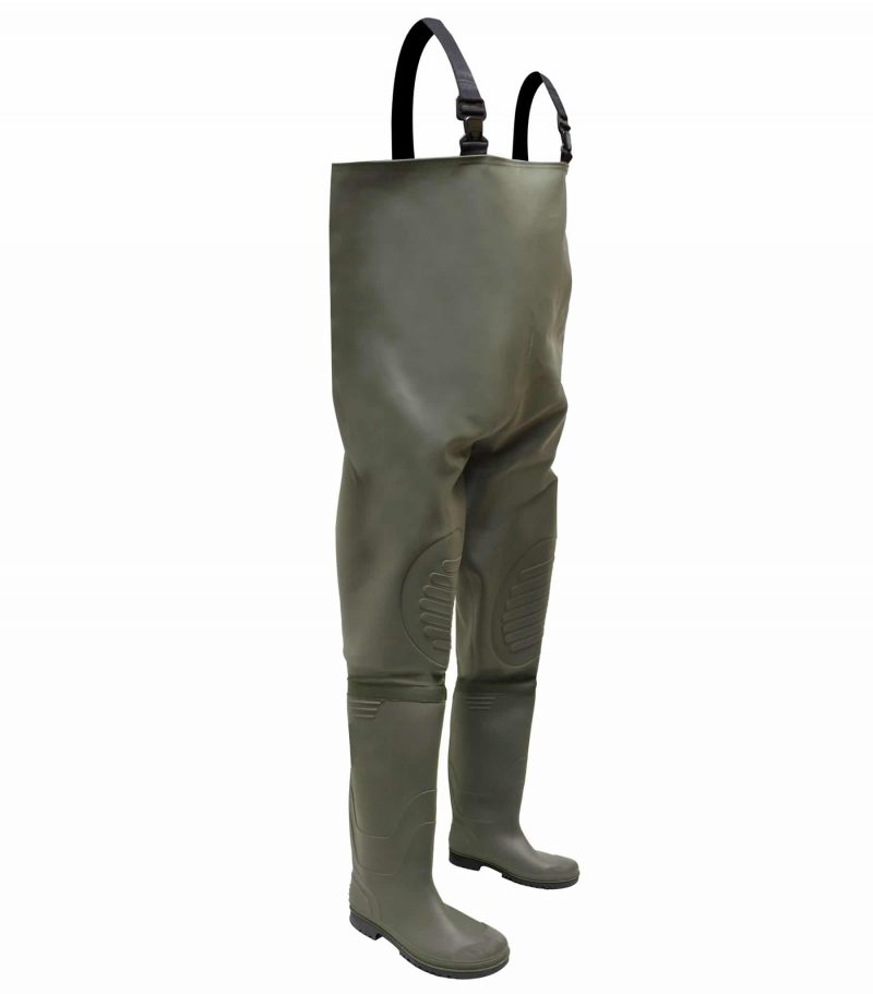 PVC/POLYESTER CHEST WADER WITH PVC/NITRILE BOOT